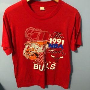 1991 Chicago Bulls Championship Shirt